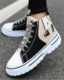 Vieley Men's High Top Casual Canvas Sneakers