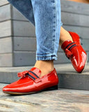 Vieley Point Toe Slip-on Classic Single Strap Tassel Loafers