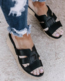 Vieley H-strap Espadrilles Platform Slip-on Wedges Open Toe Sandals