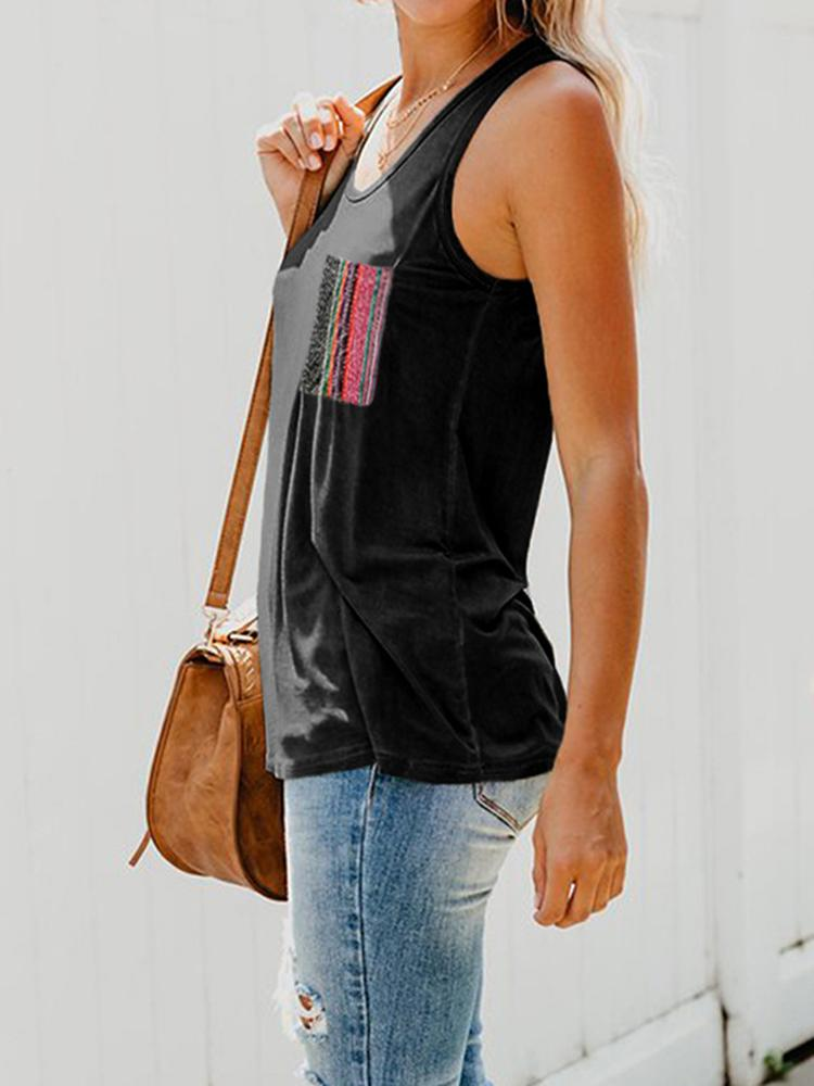 Vieley Womens Summer Casual Round Neck Sleeveless Tank Tops