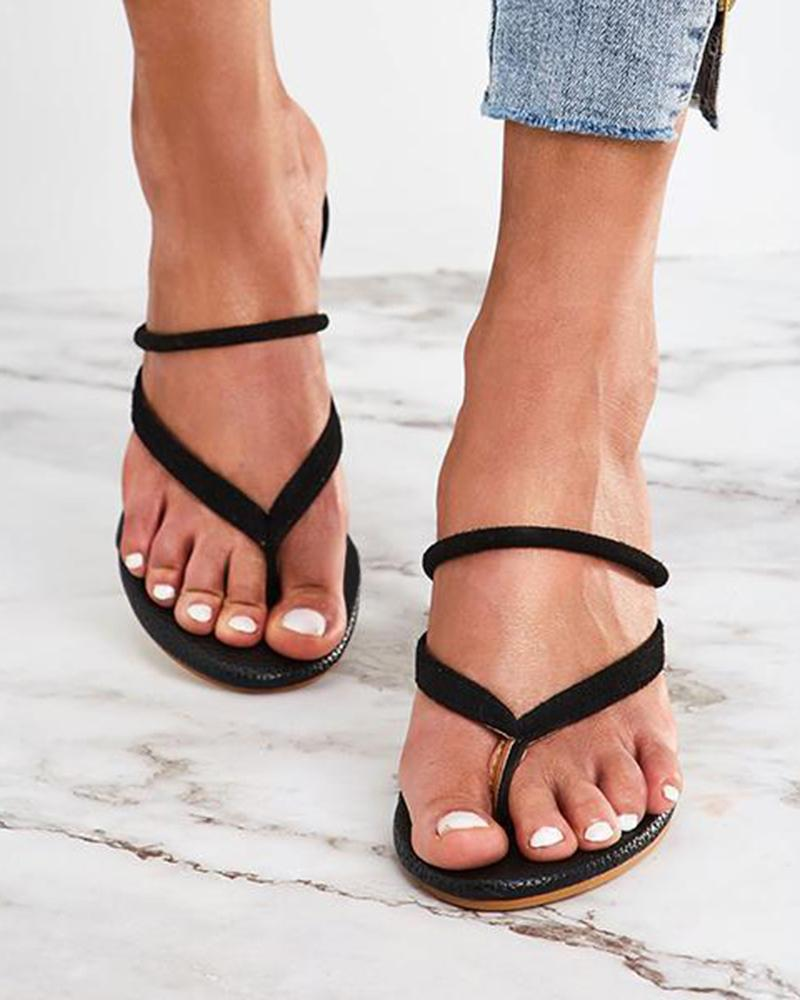 Vieley Open Toe Slingback Slip-On Heels Strappy Stylish Sandals
