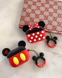 Vieley Mickey Mouse Handrope Airpod Protective Case Jacket Silicone Lady Tide Anti-fall Apple Wireless Headset Protection Earphone Sleeve