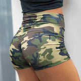 Vieley Womens Camo High Waist Ruched Butt Lifting Workout Compression Shorts