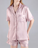 Vieley Womens Short Sleeve Sleepwear Button Down Nightwear Pajamas Set