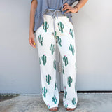 Vieley Comfy Casual Floral Print Pajama Pants