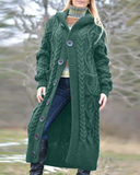 Vieley Women Hooded Long Cardigan Coat Winter Fashion Knitwear Jumpers Open Front Coat Warm Outwear