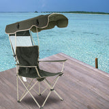 Vieley Folding Chair Outdoor Leisure Sunshade Fishing Beach Chair