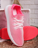 Vieley Mesh Lace-up Sneakers Elastic Breathable Flat Walking Shoes