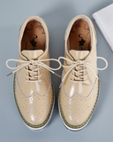 Vieley Womens Platform Wingtip Oxford Shoes