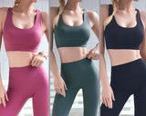 Vieley Womens Strap Padded Racerback Workout Bra Activewear Yoga Bra Tops