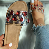 Vieley Womens Fashion Rhinestone Flip Flops Sandals