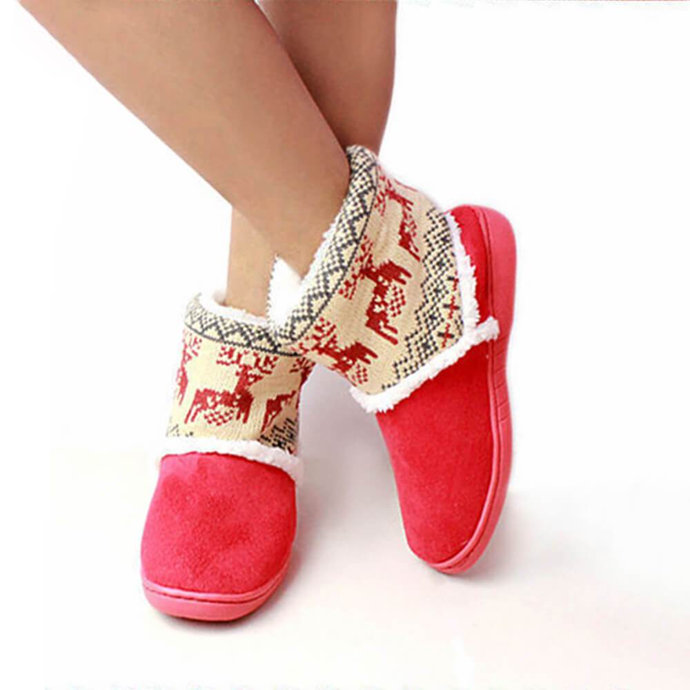 Vieley Fawn Snow Christmas Knitted Boots