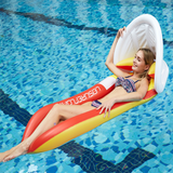 Vieley Inflatable Awning Floating Bed PVC Folding Deck Chair Outdoor Water Bed Adult Hammock Backrest