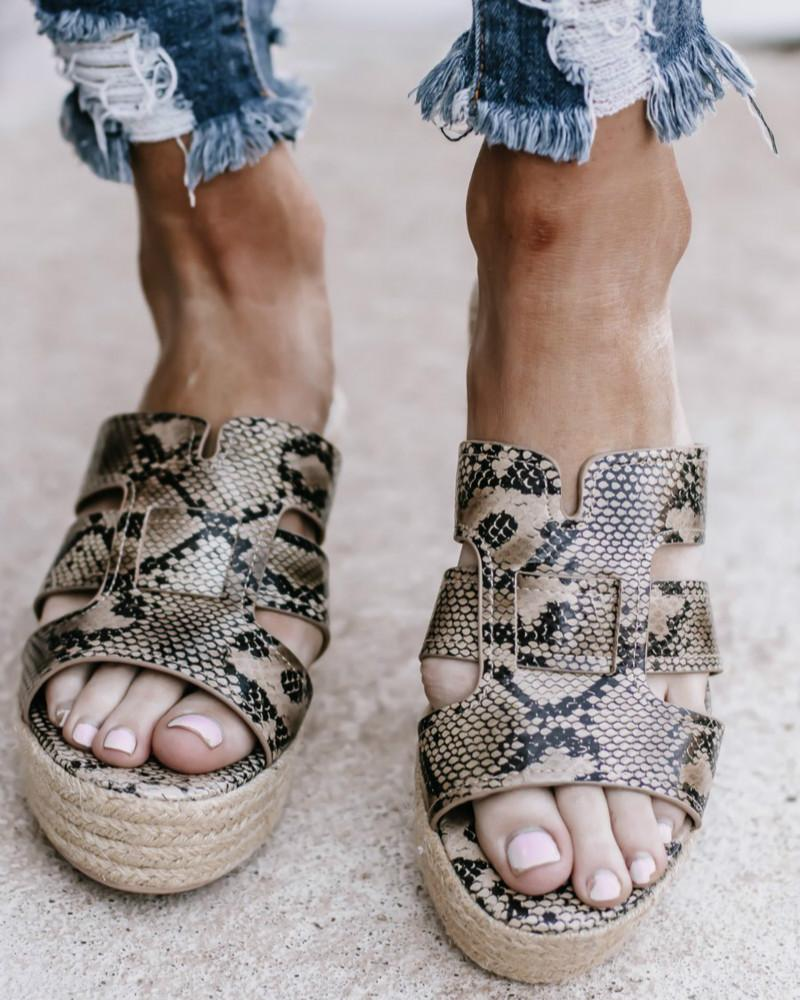 Vieley Espadrille Point Toe Strappy Wedges Slingback Platform Sandals