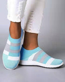 Vieley Women's Sock Sneakers Lightweight Color Block Walking Shoes