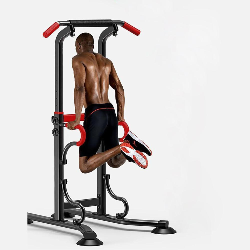 Vieley Power Tower Pull Up Dip Station for Home Fitness Adjustable Height Strength Training Workout Equipment