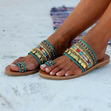 Vieley Women's Slip On Boho Flat Slides