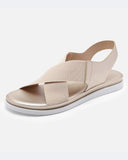 Vieley Womens Crisscross Strap Open Toe Flat Sandals