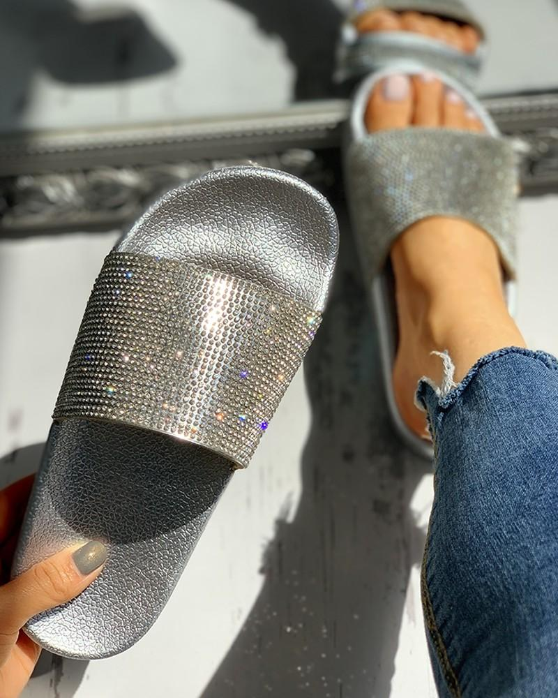 Vieley Women¡¯s Slip On Glittering Sides