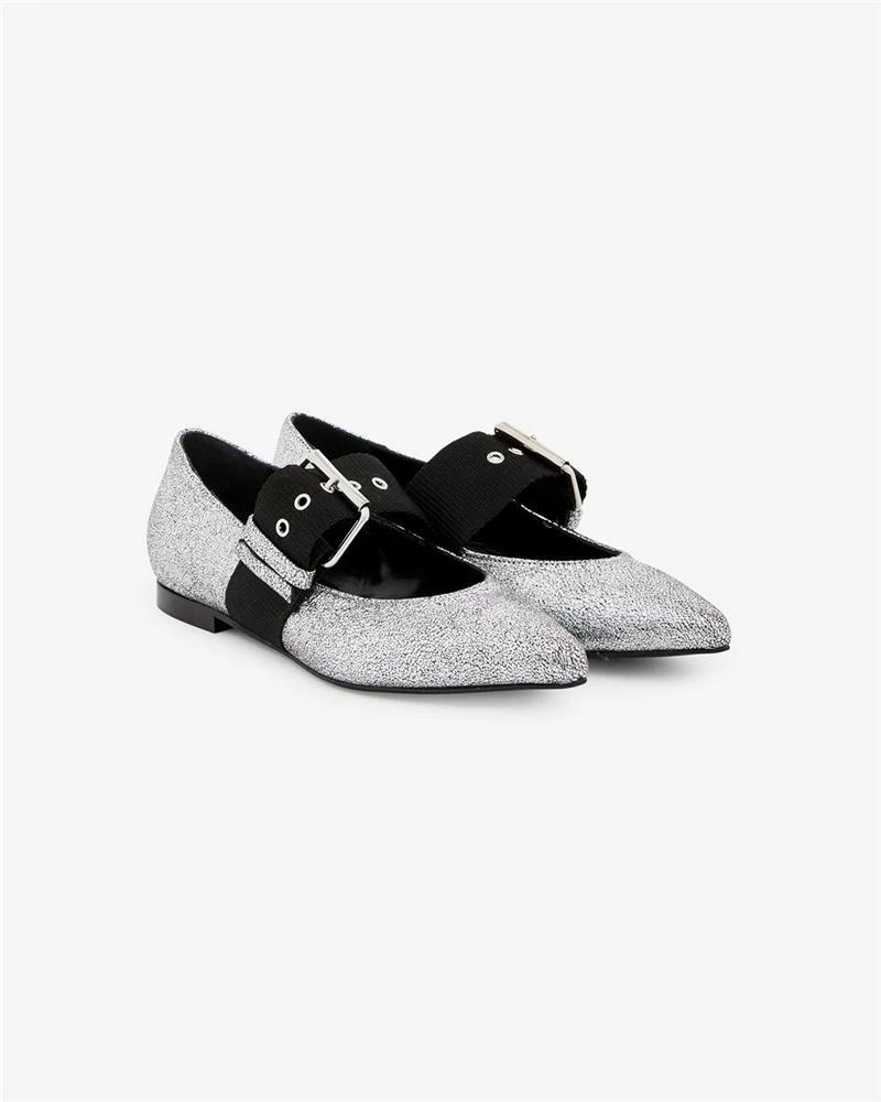 Vieley Fashion Single Strap Buckle Pointed Toe Loafers