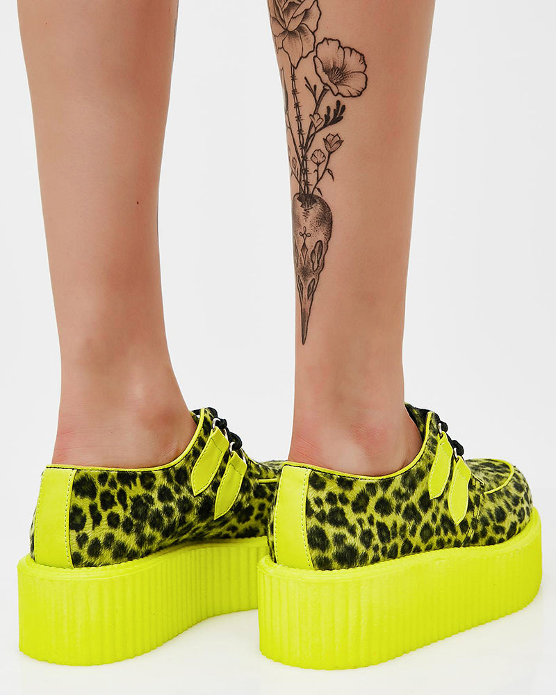 Vieley Womens Comfortable Printed Platform Shoes