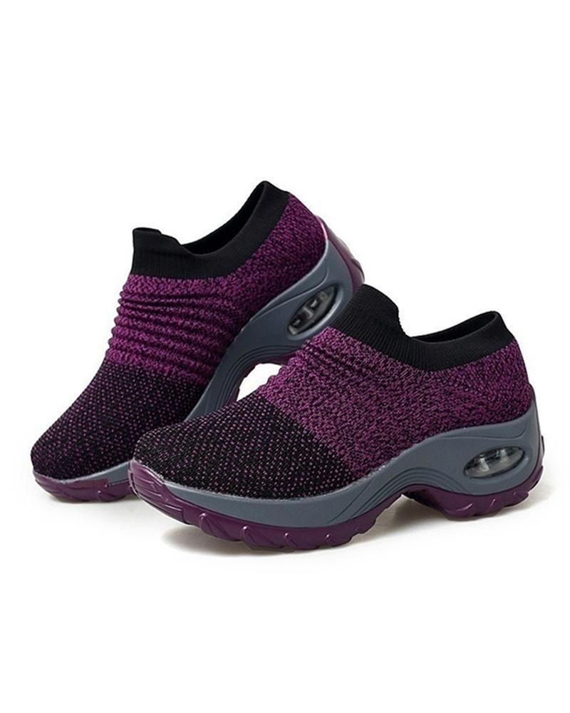 Vieley Womens Slip On Mesh Lightweight Air Cushion Sock Sneakers