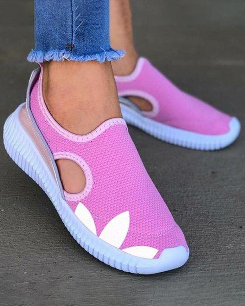 Vieley Women Slip-on Hollow-out Sneakers