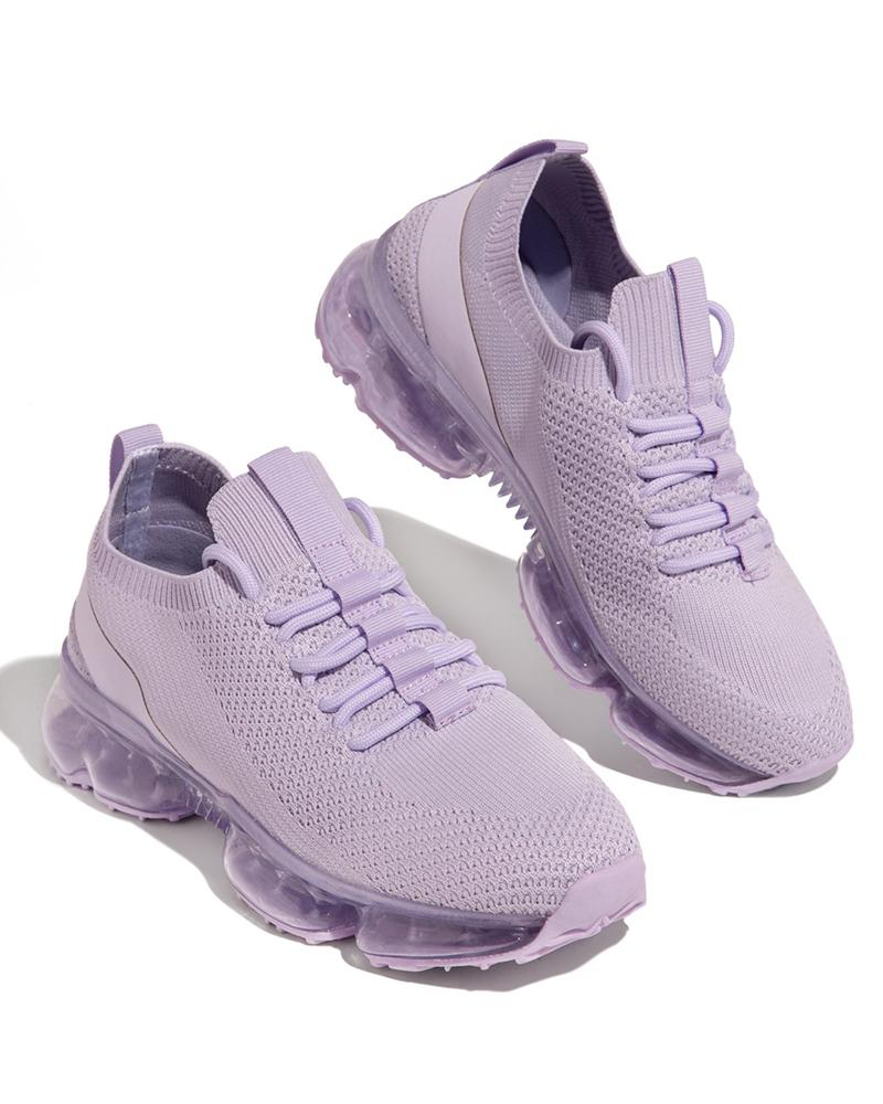 Vieley Women Air-cushion Breathable Elastic Cuff Sneakers