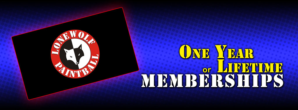 1 Year or Lifetime Lone Wolf Paintball Membership