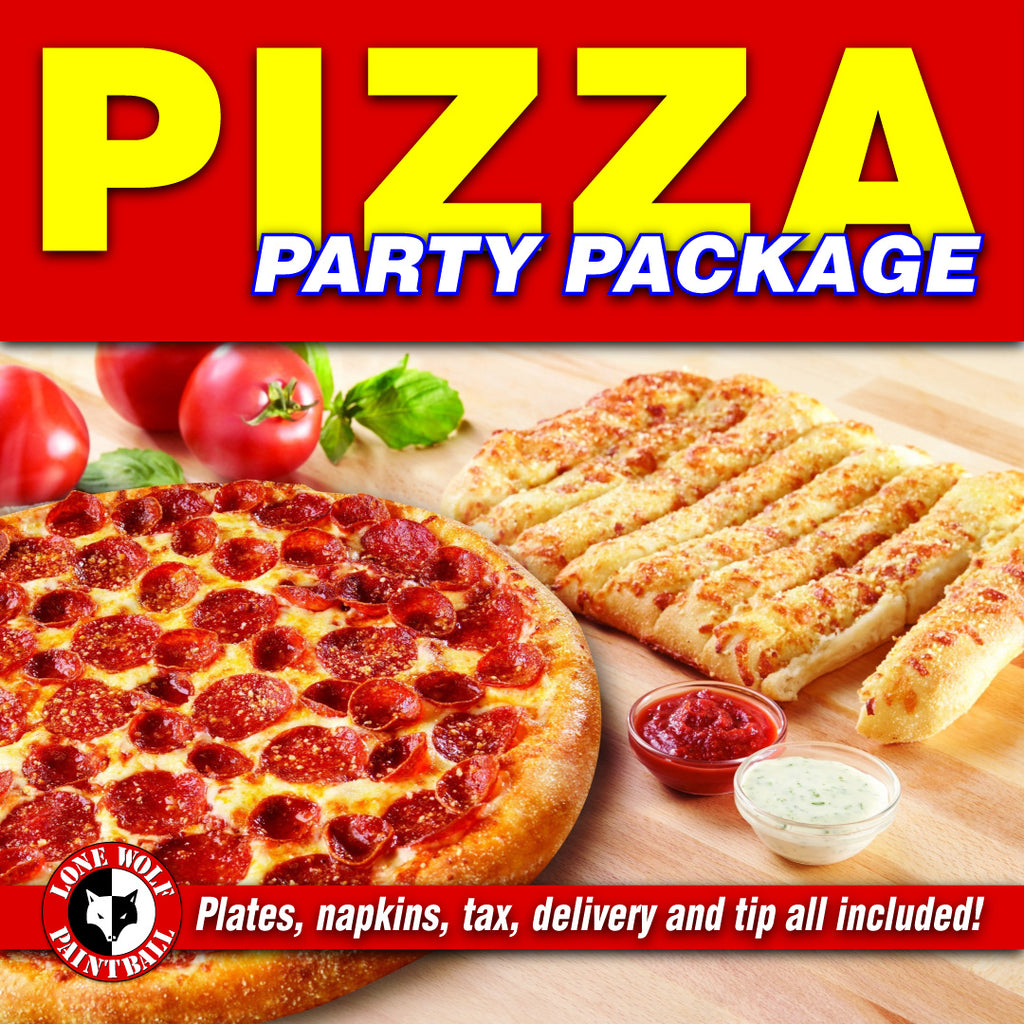 Pizza Party Package at Lone Wolf Paintball