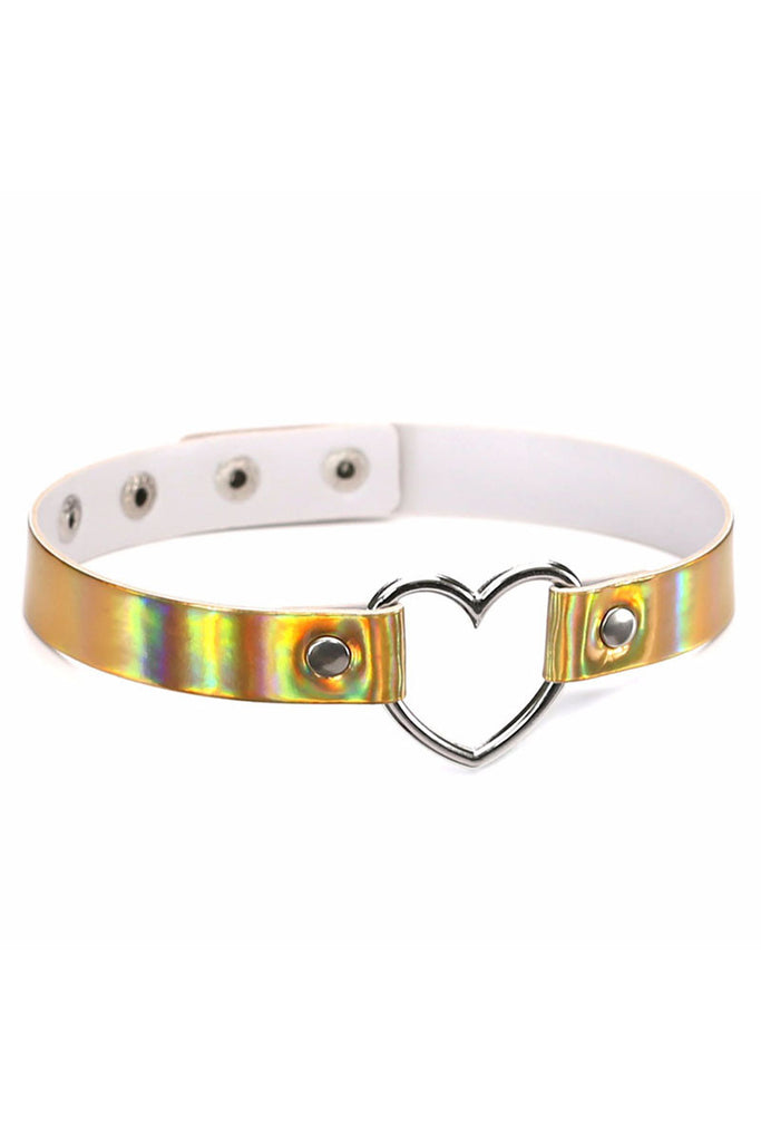 Holographic Babygirl Choker Gold