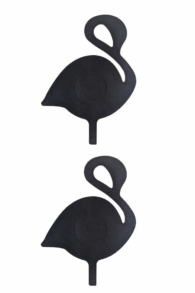 Flamingo Satin Black Pasties