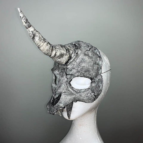 Unicorn skull mask Blood Splatter