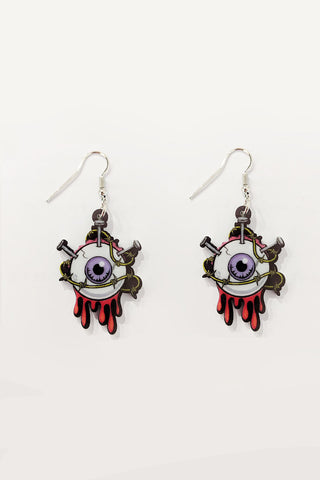 Lady Bug Acrylic Earrings