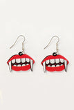 Lippy Fangs Acrylic Earrings