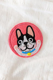 Frenchie Club Iron-On Patch