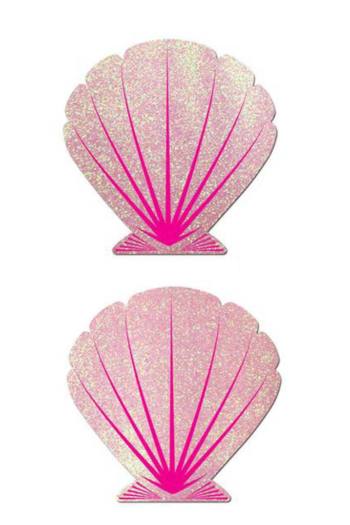 Glitter Sequin Shell Pasties Pink by Pastease®