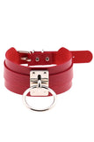 Piper Choker Red/Silver