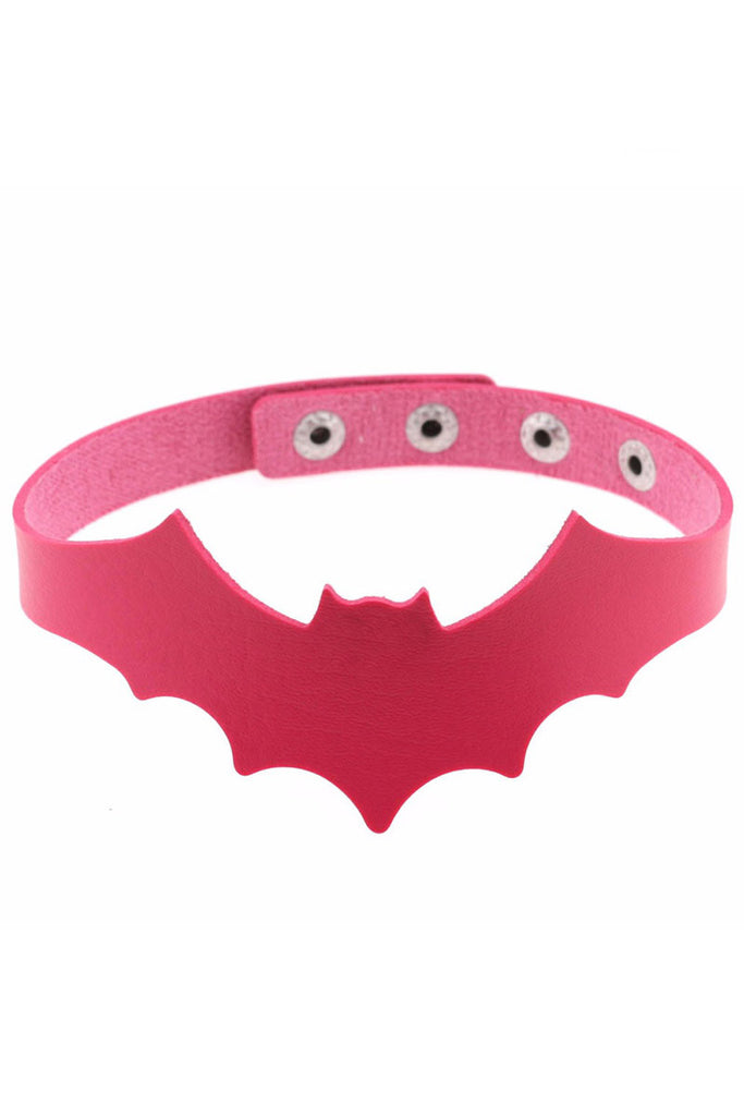 Kiss Of Death Choker Hot Pink