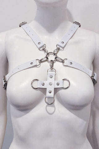 Felix Pleather Pentagram Body Harness Pink