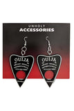 Ouija Black Earrings