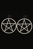 Pentagram Earrings White