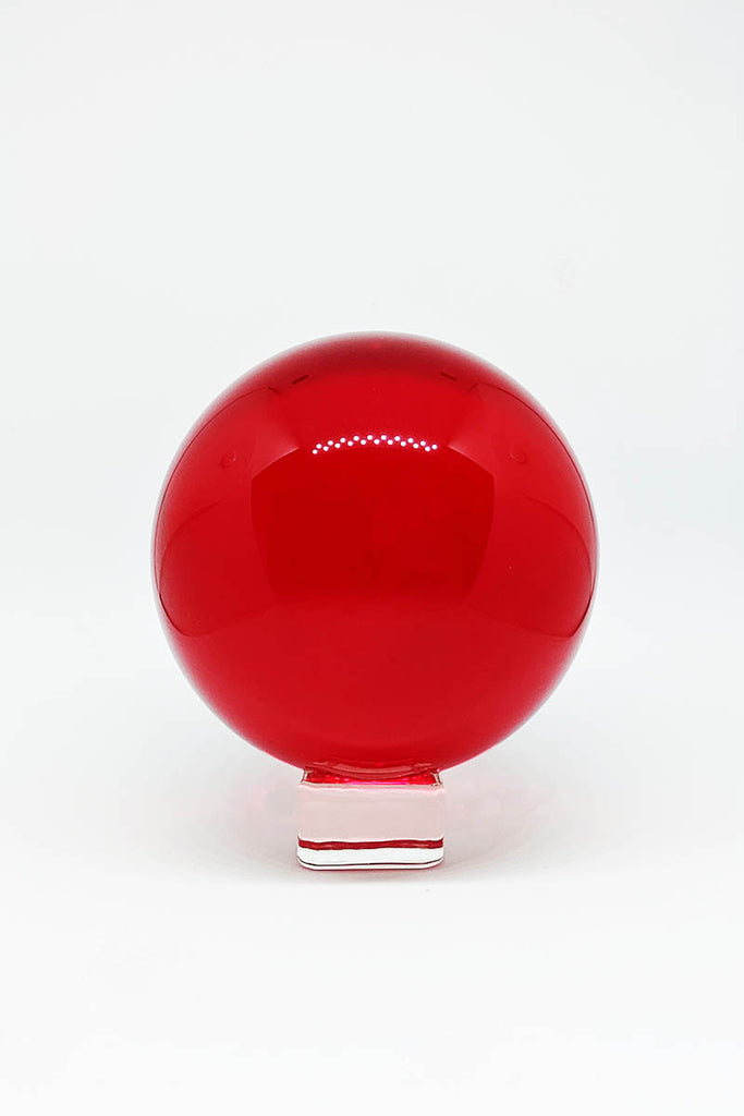 Glass Orb - Crystal Ball Ruby