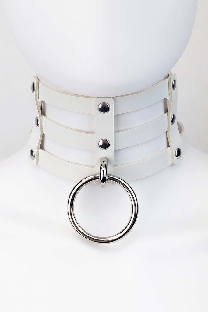 Yari Pleather Choker White