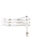 Yari Pleather Garter White (Each)