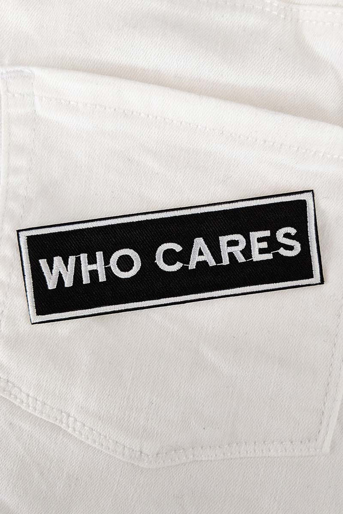 Who Cares Iron-On Patch