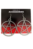 Mini Pentagram Earrings Diamond Glitter