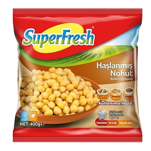 SuperFresh Frozen Boiled Chickpeas 450 Gr ( 15.9 Oz )