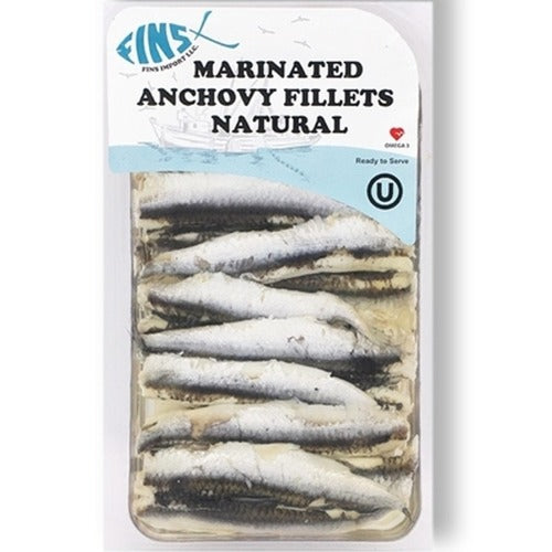 Fins Marinated Anchovy Fillets Natural 124 Gr ( 4.4 Oz )