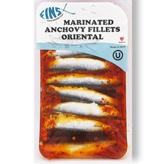Fins Marinated Anchovy Fillets Oriental 124 Gr ( 4.4 Oz )
